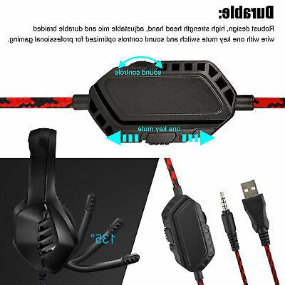 For Nintendo Switch PC Headphones Mic LED Gaming Headset