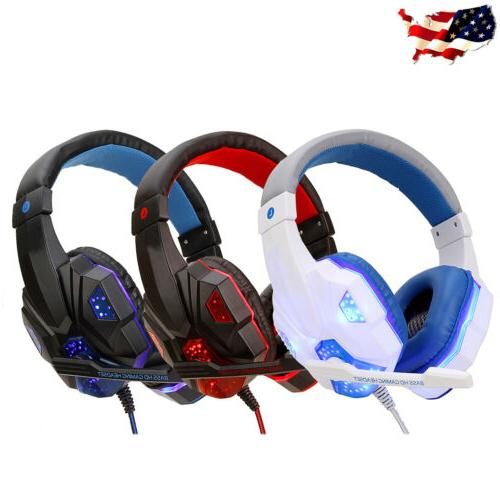 For PS4 Xbox Switch 3.5mm Stereo Headphones Mic Headset