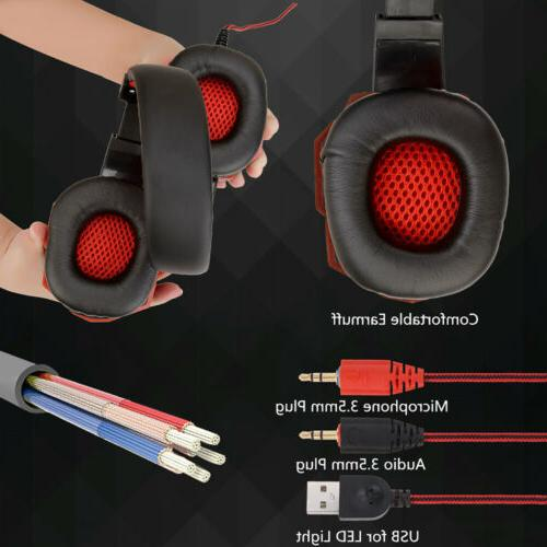 For Xbox Switch PC 3.5mm Stereo Headphones Gaming Headset