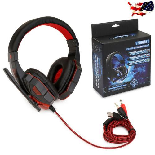 For PS4 Switch PC 3.5mm Headphones Mic Headset