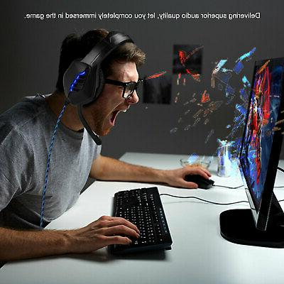 For PS4 Nintendo Switch Headphones LED Headset