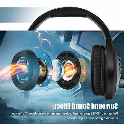 For Switch Headphones LED Headset