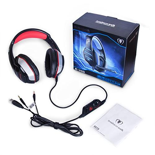 PS4 Xbox Headset, GM-3 Gaming Headset, Noise Xbox Over ear with Mic Volume PC Phone
