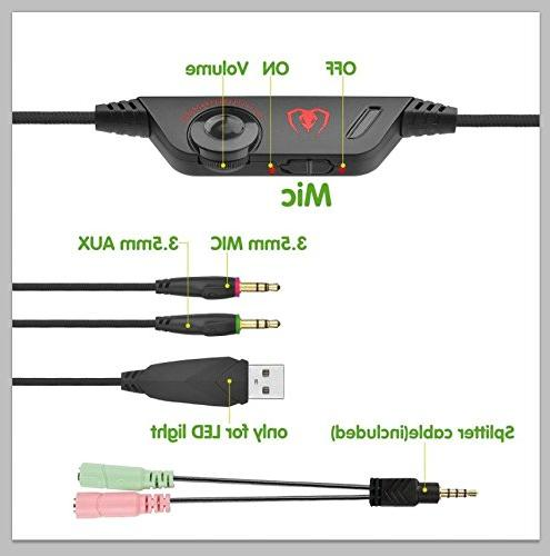 Headset, Beexcellent Headset, Noise Isolating Xbox Over with Volume Splitter PC