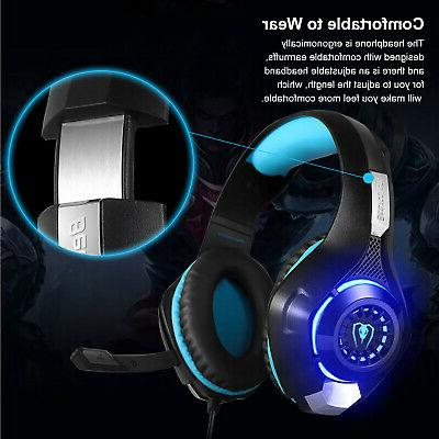 For Xbox Switch Headphones LED Headset