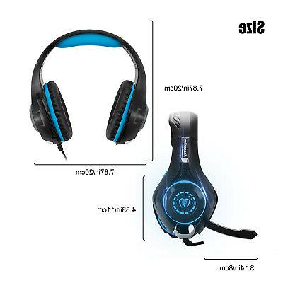 Switch PC 3.5mm Stereo Headphones Mic LED Gaming Headset