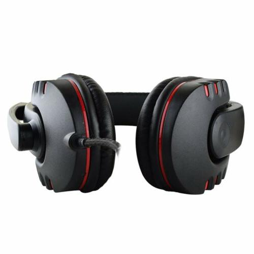 For PC Gaming Headset Mic Surround Headphone