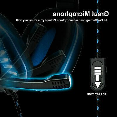 3.5mm Gaming LED Headphones Surround For PC ONE