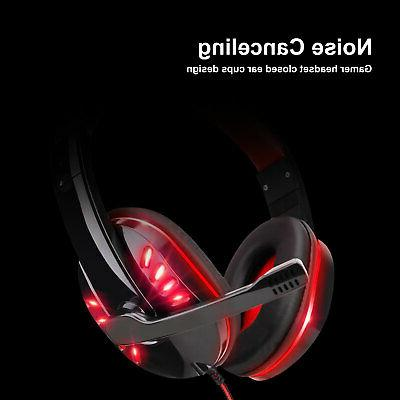 3.5mm Headset LED Headphones Stereo For PS4 ONE