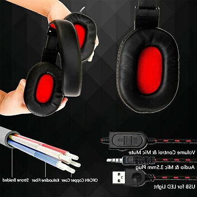 Gaming Headset Headphone 3.5mm Wired For PS4 Laptop one