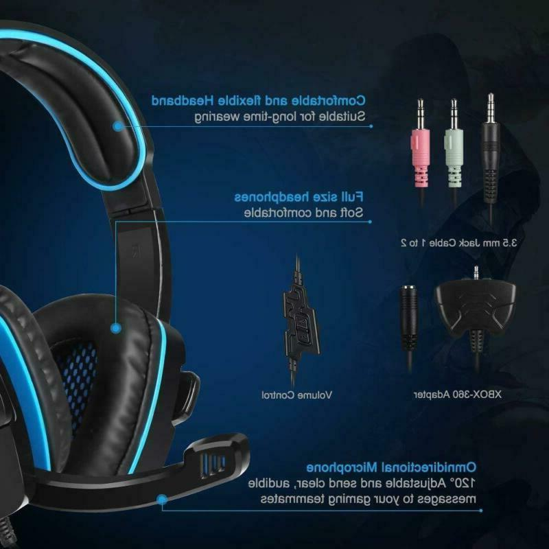 SADES Headset Headphone With For PS4 PC xbox
