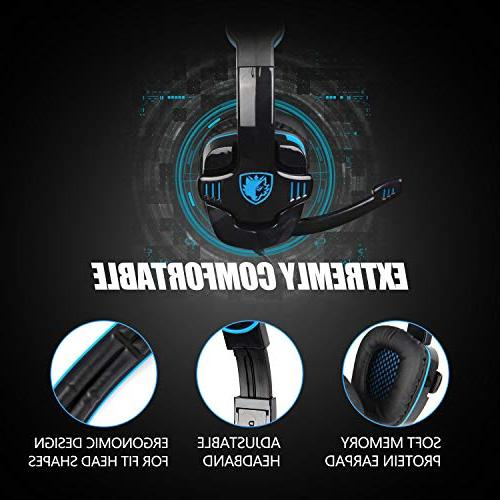 SADES for Xbox PC, Controller, Noise Cancelling Ear Mic, Bass Memory for Laptop Mac