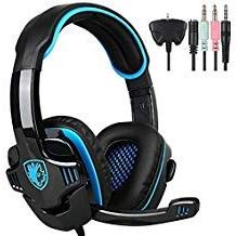 SADES SA708GT 3.5mm Wired Over Ear Stereo Gaming Headset wit
