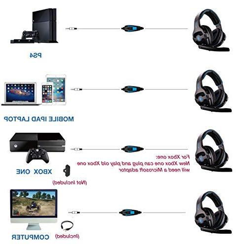 SADES SA810 Headset for Xbox PC with Mic Soft Cushion Jack Cable Smartphone Laptop Tablet