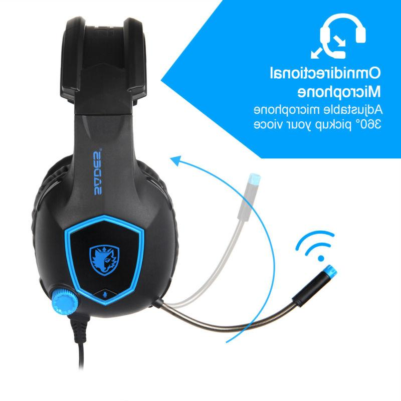 SADES for Xbox One PC Sound 3.5mm Headphone