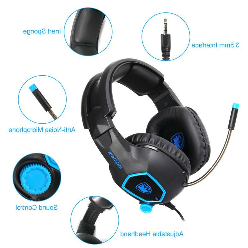 for PC Stereo Sound Headphone Mic