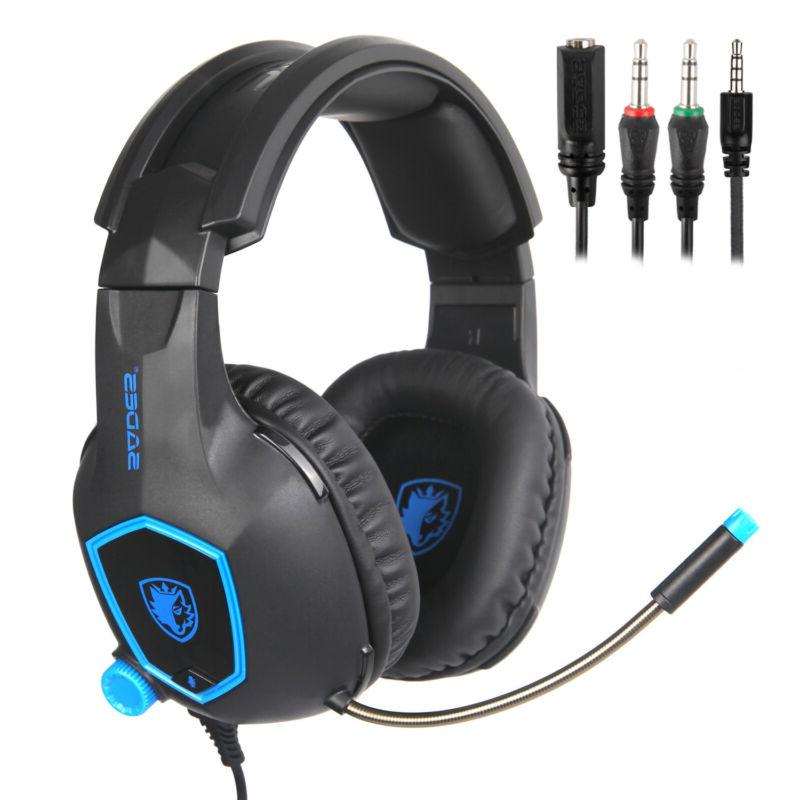 SADES for PS4 Xbox PC Stereo Headphone