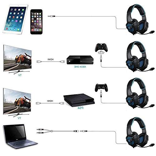 Headset for Playstation PS4 PC Computer Noise Surround Stereo Earmuffs Headphones Mic