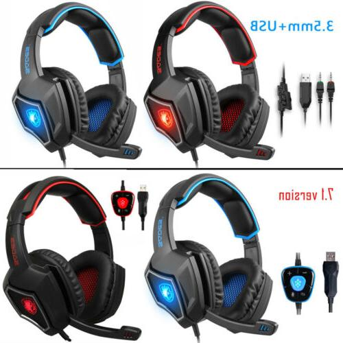 sades spirit wolf gaming headset w microphone