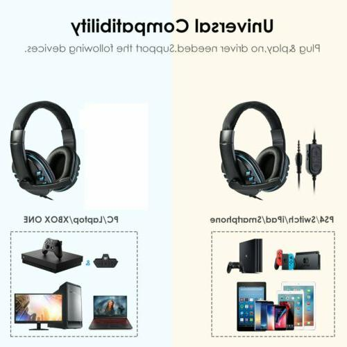 Stereo 3.5mm Wired Gaming Headset Xbox Nintendo