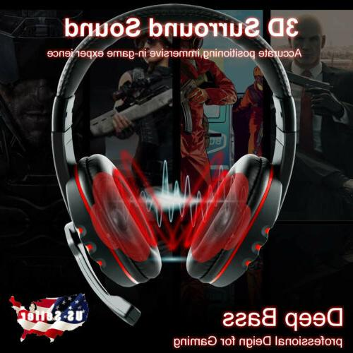stereo 3 5mm wired gaming headset headphone