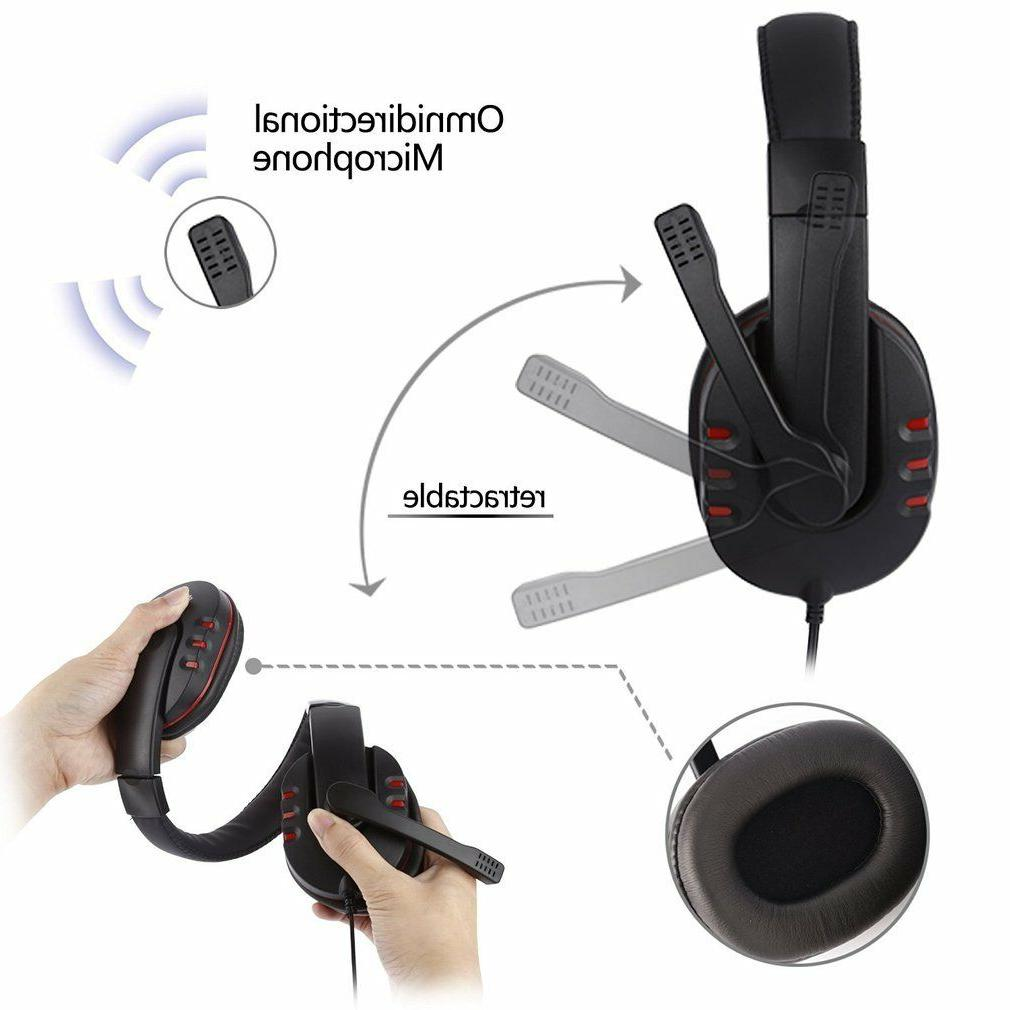 Stereo Wired Gaming Headset Headphone Xbox Switch WF