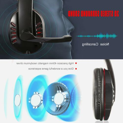 Stereo Bass Surround Gaming Headset New Xbox One W/Mic and