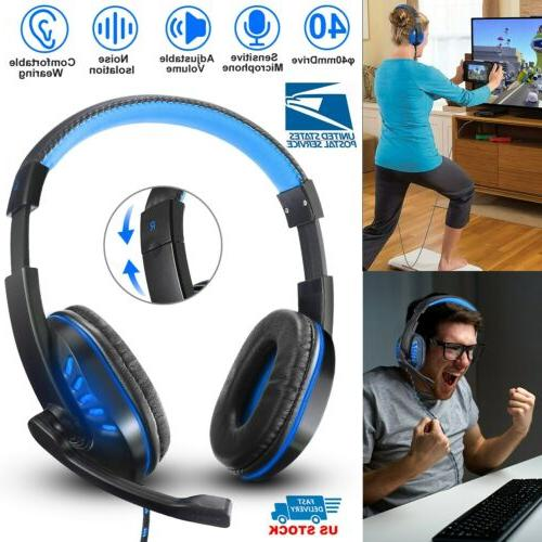 stereo bass surround pc gaming headset