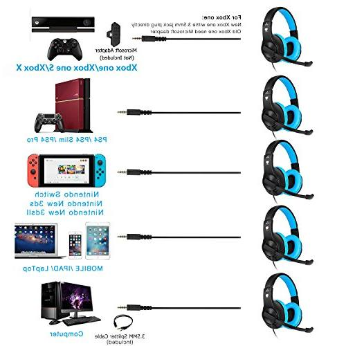 BlueFire PS4 Gaming Headset Stereo Gaming and with PS4, New One, One Xbox One Nintendo
