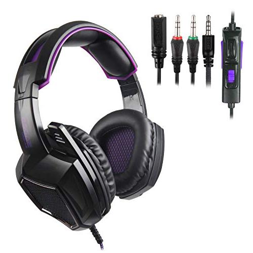 Sades SA920 Wired Over Ear Stereo Bass Gaming Headset Microphone New one/ Phones/Mobiles/Laptop/Mac /