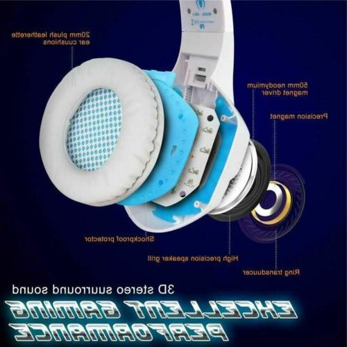 BlueFire Headset for PS4 Headphones Pearl White