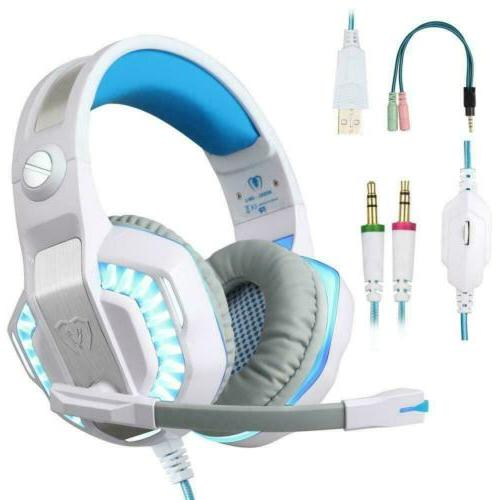 stereo gaming headset for ps4 over ear