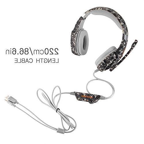 BGOOO Stereo Gaming for PC, One,Professional Noise Over Ear with Mic, Light, Surround, Soft for