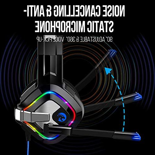 ZIUMIER Stereo Gaming for PS4, PC, One, Over-Ear Mic, Soft Laptop, Mac, Nintendo