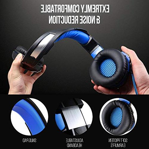 ZIUMIER Stereo Gaming for PC, One, Surround Headphones Mic, RGB Soft Comfort Earmuffs for Laptop, Mac, Nintendo
