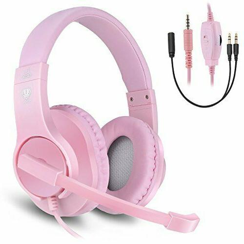 Headset PS4 ,Xbox One Controller Noise Isolation, Over-Ear Headphones with ,Stereo Headphones 3.5mm, Earphone for Laptop, PC