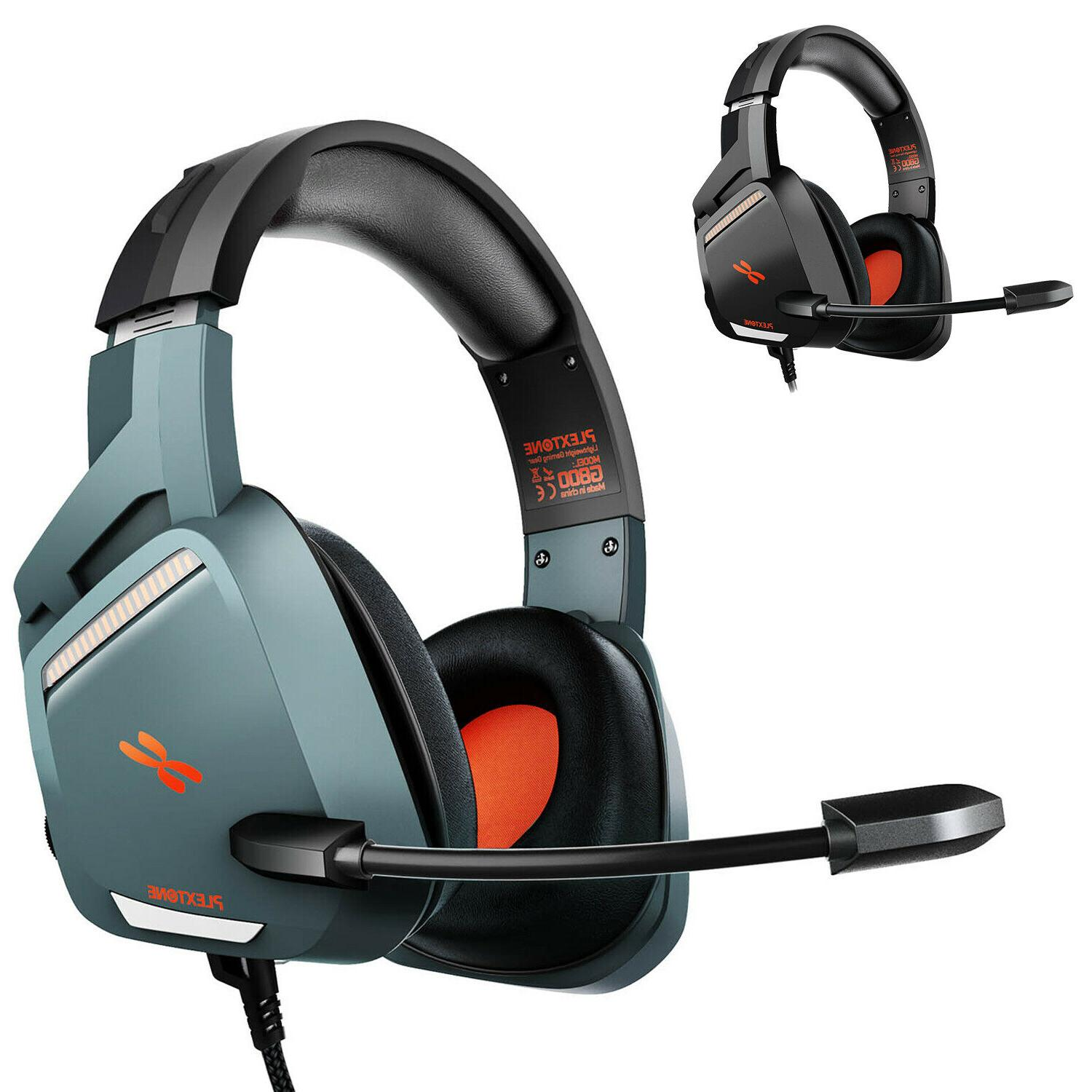 stereo gaming headset noise cancelling over ear