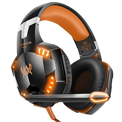 stereo gaming headset overear headphones