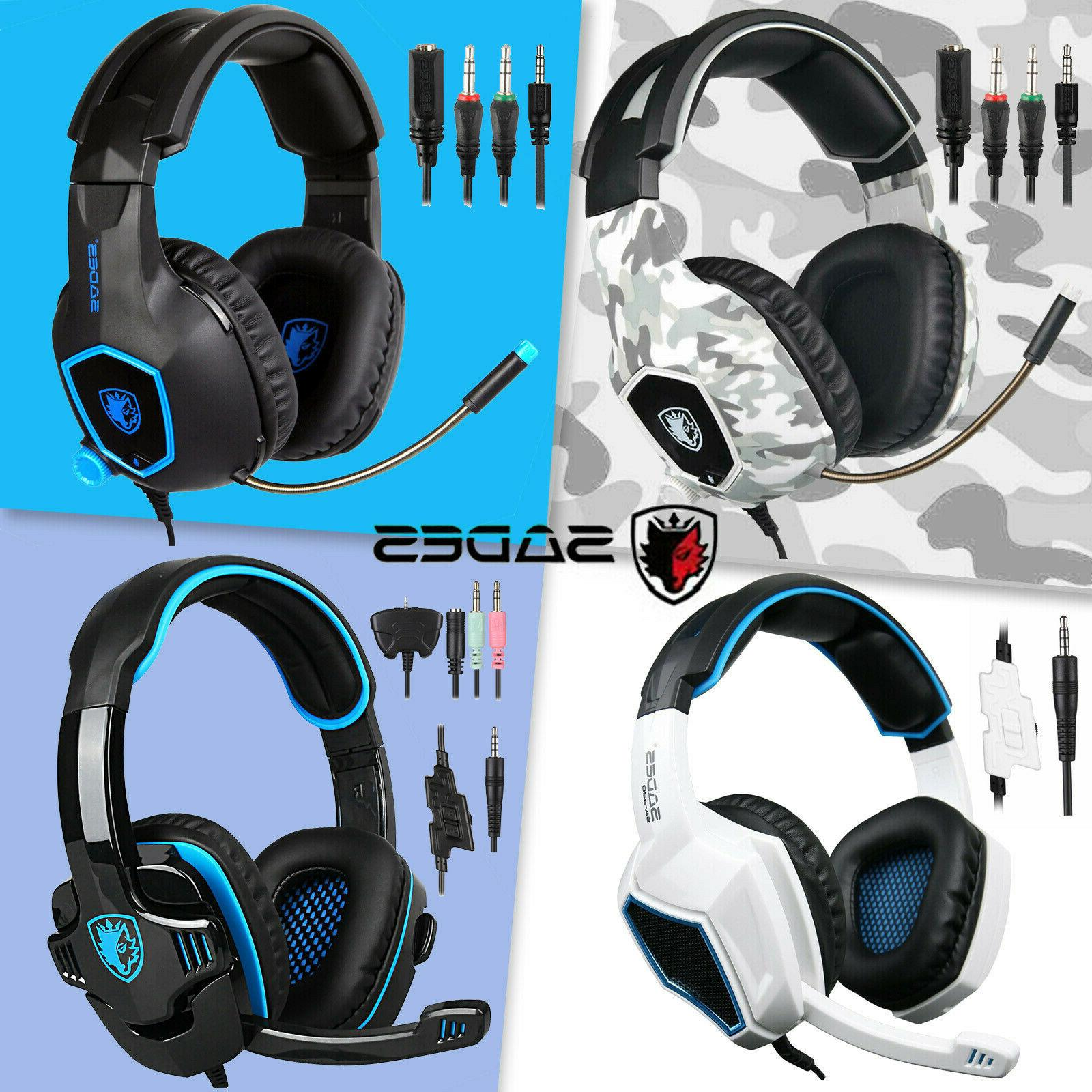 stereo gaming headsets headphones with mic