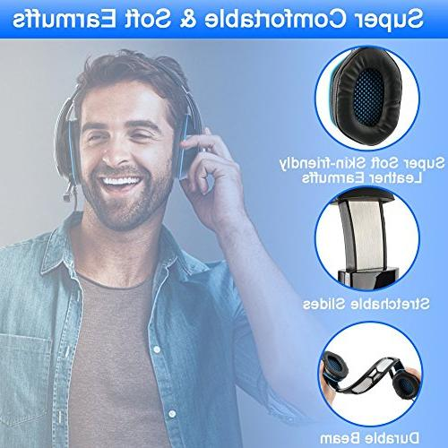 BlueFire Headset Headphone Light, Volume Control Noise-Canceling Mic PS4 / New Xbox s/Xbox X/Nintendo