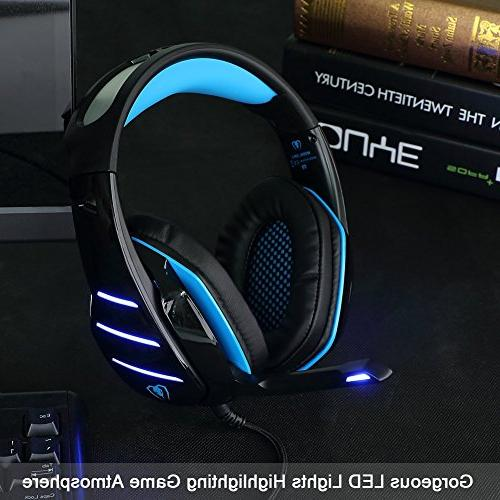 BlueFire Upgraded Gaming Headset LED Volume Control Mic for New s/Xbox One