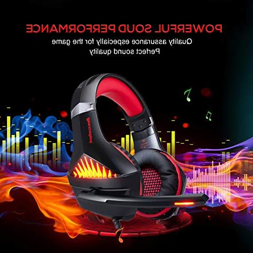 BlueFire Upgraded Gaming Headset 3.5mm Bass Stereo Gaming Headphone with and LED Playstation 4, Xbox one,