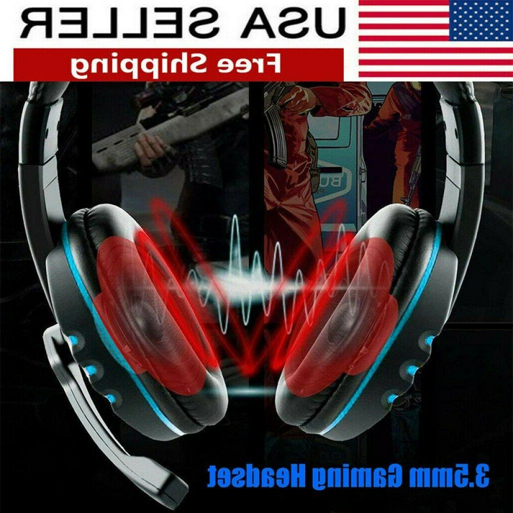 usa 3 5mm wired gaming headset stereo