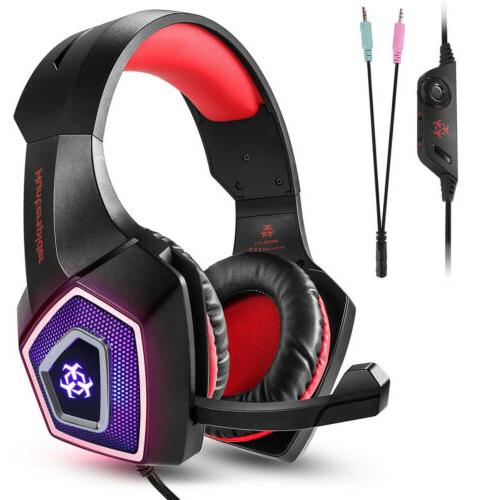 V1 Gaming Stereo Headphone 3.5mm Wired For PS4 PC Xbox One