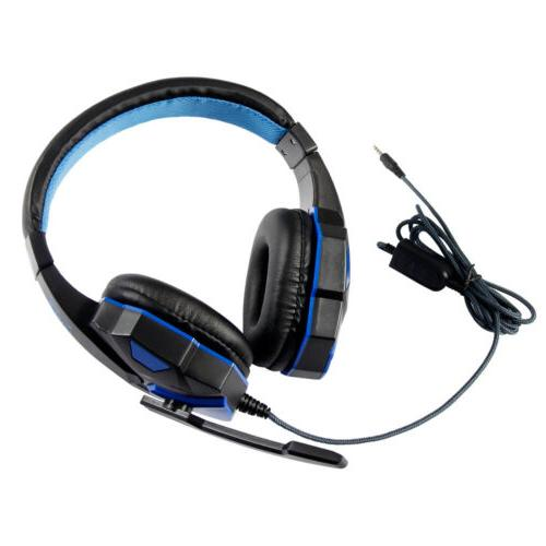 Wired Gaming Headset Headphone For Xbox One Nintendo PC