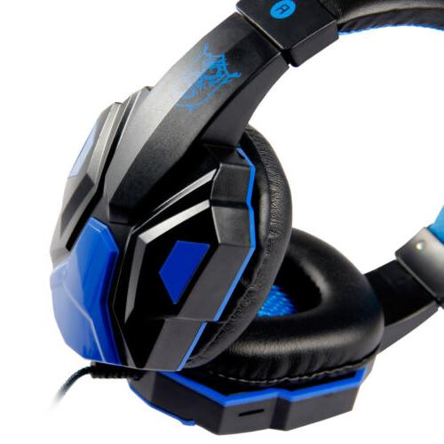 wired gaming headset headphone for ps4 xbox