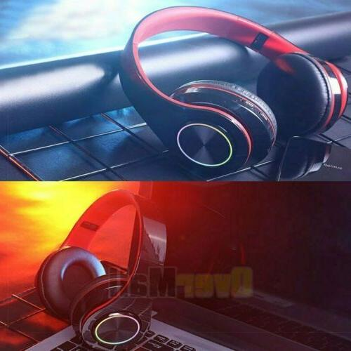 Wireless Gaming LED Headphones Stereo Surround For PC PS4 Xbox ONE