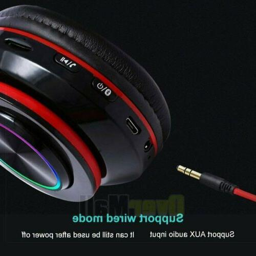 Wireless 3.5mm Gaming LED Headphones ONE