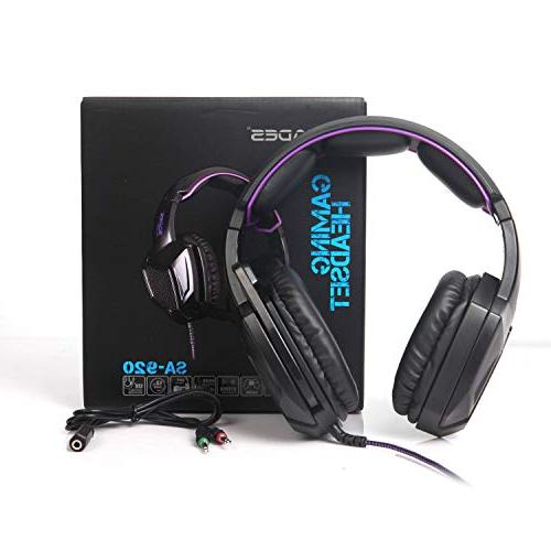 Sades Over Gaming Headset Microphone one/ Phones/Mobiles/Laptop/Mac /