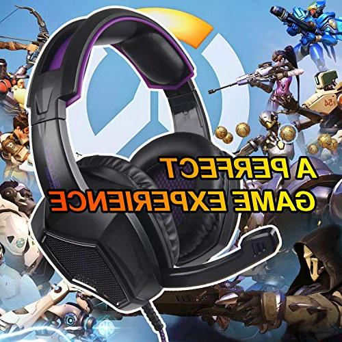 Sades 3.5mm Over Bass Gaming Headphone Headset Microphone for Box one/ PS4/ /